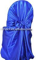 free shipping taffeta royal blue  self -tie chair cover/chair bag/pillowcase chair cover