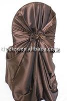 free shipping taffeta chocolate self -tie chair cover/chair bag/pillowcase chair cover