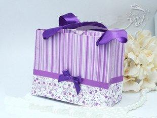 Free shipping 200pcs/lot fashion style wedding gift box candy box Christmas gift box TS-61(purple)