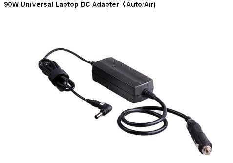 Hot Sell and Good quality 90W Universal Laptop DC Adapter Auto/Airplane,universal DC Adapter for Laptop(China (Mainland))