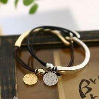 Wholesale-New!Korean hot leather string bracelet personality 10pcs/lot Free shipping