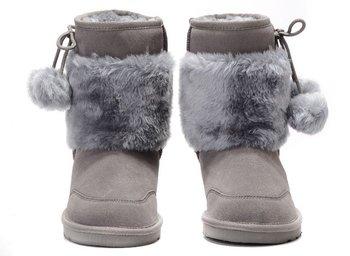 Grey snow boots 5899, Classic Australian sheepskin boots,ship by ems/dhl/ups,free shipping