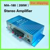 Free Shipping USB Mini Stereo Sound Digital Power Amplifier Hi-Fi AMP MA-180 100% NEW