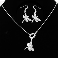 925 Jewelry Set (Necklace+Earrings), fashion jewelry set, fine jewelry set, wholesale S126 5pcs/lot with free shipping