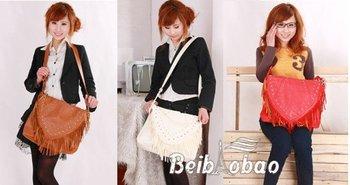 Free shipping wholesale and retail fringed shoulder bag handbag satchel satchel
