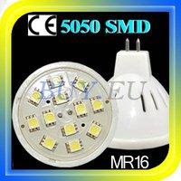 10 pcs MR16 White 12 SMD 5050 LED Light Bulb Lamp 12V +Free Shipping!! #10 x SDQ0229