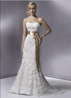 Free shipping good lace wedding dress/ fashion sexy long evening dress/ evening gown / prom dress