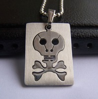 Wholesale 5Pcs Best selling New Arriva Guaranteed 100% Man's Stainles Stee Skull Pendants free chain + free shipping