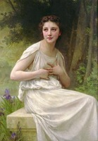 Free shippingreproduction classical artists Bouguereau Hand painted oil painting decoration painting P37