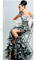 Женский эротический костюм C0004 Simple Strapless Knee length Prom Dress