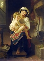 Free shippingreproduction classical artists Bouguereau Hand painted oil painting decoration painting P69