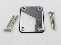 1 Chrome Metal Neck Plate for Guitar DIY inc. Screws