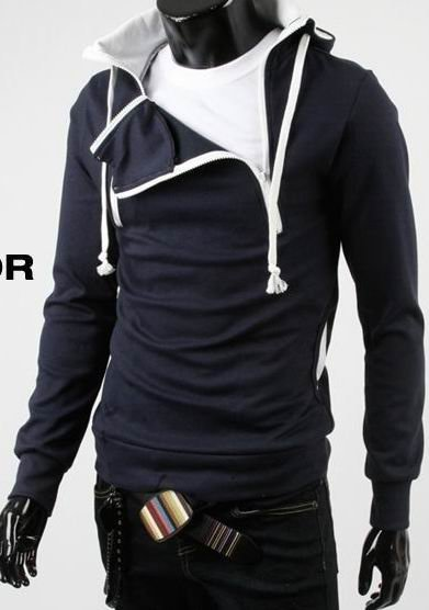 2010 New arrival! Super cool Fashion men's jacket,sport thicken fleece hoody,leisure outerwear(China (Mainland))