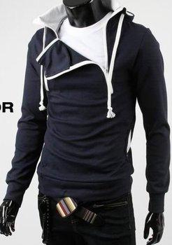 2010 New arrival! Super cool Fashion men's jacket,sport thicken fleece hoody,leisure outerwear