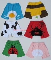 24 pieces/lot-6 designs 3 sizes Cute pp pants/Baby pants/pp pants/Baby shorts