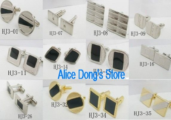 Men's Jewelry Dress Cuff link CUFFLINKS Mix Styles 6 pairs/lot +Gift&Free Shipping(China (Mainland))
