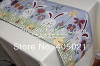 Ikea Easter Polyester/cotton rustic tapestry jacquard wholesale table runners for home hotel