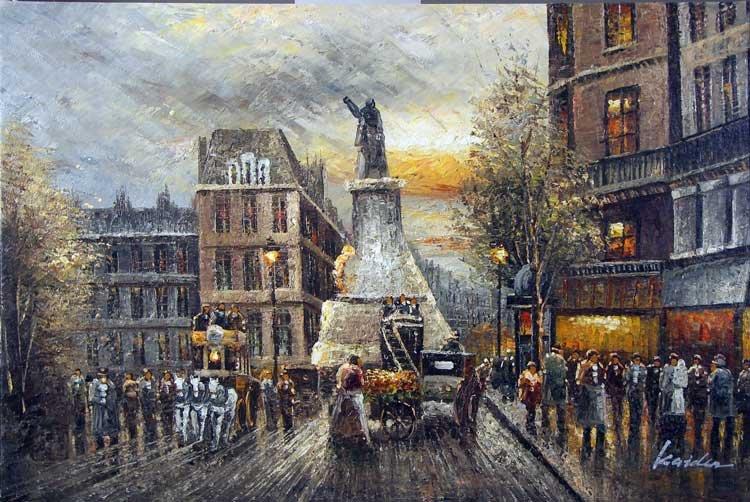 1800 Shoppers Londres Inglês sol Estátua Pintura(China (Mainland))