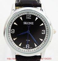 Free shipping 20pcs/lot Quartz watch for man / quartz watch movement/ leather watch/ 2 color available/ 7104