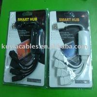 5pcs/lot,free SHIPPING, Hot Wholesale - High Speed 4 Port USB Hub (white,black)