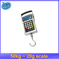 50Kg 20g Digital Fish Luggage Hook Hanging Weighting Scale + free shipping