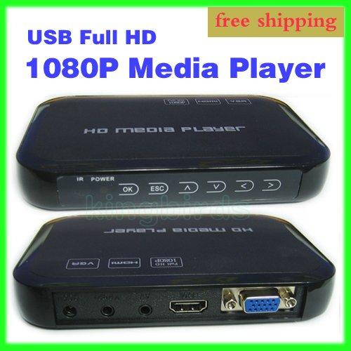Free Shipping USB Full HD 1080P HDD Media Player HDMI GVA MKV H.264 SD(China (Mainland))