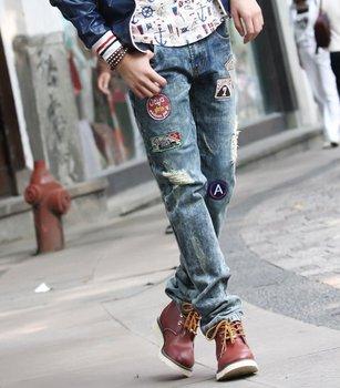 NEW Mens slim jeans sew pudding pants