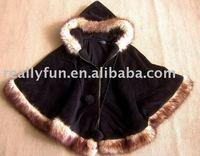 Free Shipping/Hot Sale Women's Fashion Wool Coat, Ladies' Noble Elegant Cape/Shawl