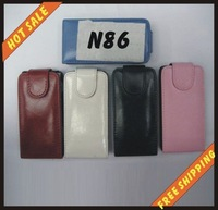 Free shipping --New high quality more colours leather case mobile phone cellphone for NOKIA N86 with vision package