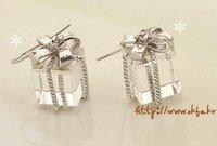 Free shipping! lovely gift box earring EL008 lovely dandelion earring,HEL002  2011 new hot sell earring 12pcs/lot