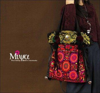 Splendid Mood--Embroidered Tote Shoulder bags no.2