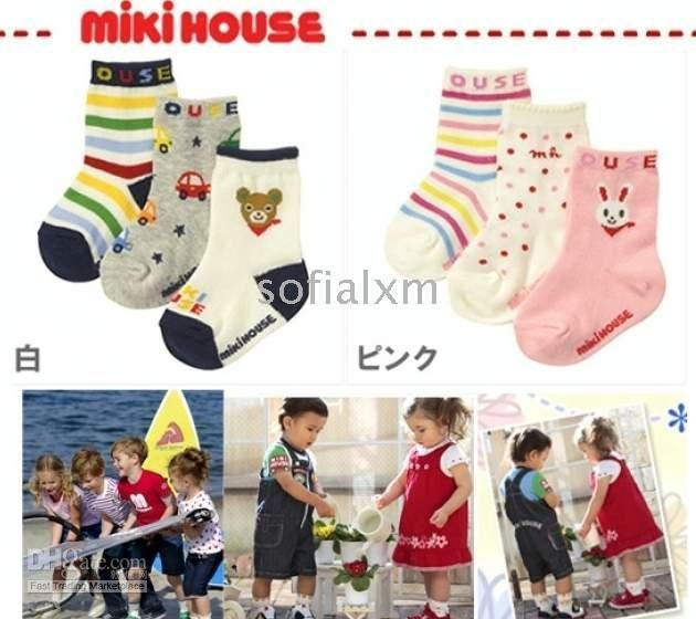 cotton Children&#39;s Socks anti-slip socks baby stocking baby socks multicolored pattern anklets 60pair(China (Mainland))