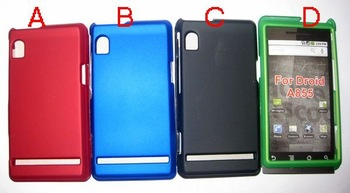 wholesale and retail 20pcs/lothard skin case for Motorola  driod A855  free shipping  Guaranteed 100%