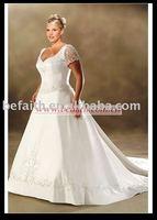 Hot Sale Free Shipping  A-line Satin Bridal Plus Size Wedding Dresses 2570