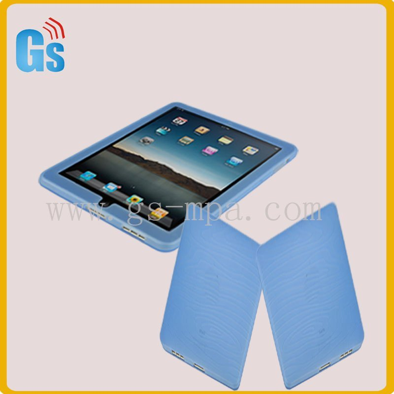 Blue silicone skin cover for ipad(China (Mainland))