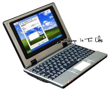 "7"" Mini laptop VIA 8650 800MHz 256MB RAM 4GB Nand Flash windows Notebook"