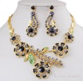 Ladies Wedding Jewelry with Black Rhinestone Jewelry Set