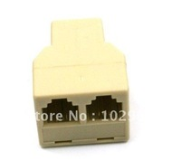 RJ11 Phone Cable 1-to-2 Female-Female Splitter Coupler/rj11 plug splitter, 100pcs/lot