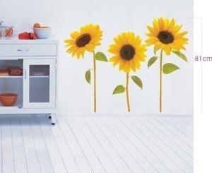 Fun decorative Sun Flower wall stickers home improvement magic wall graffiti - 80x70cm