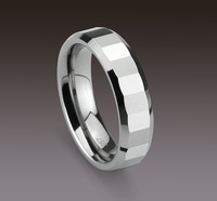 1pcs best selling New Arrival Guaranteed 100% Tungsten Carbide Polished Polygon Ring Wedding Band Ring Gift by EMS shipping