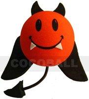 Hot Sale eva foam aerial antenna ball pencil topper devil black wing