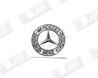 Benz Nickel alloy thin sticker metal logo\Support custom/Turned the agency/More MOQ more discount