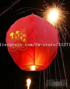 Free Shipping bio sky lantern flying lantern 10 color(China (Mainland))