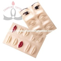 3D Tattoo practice skin permanent makeup eyebrow and lips training skin 3 pcs free shipping