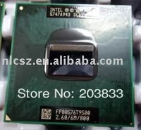 best seller Intel CPU T9500  2.6MHz 6M 800MHz laptop free shipping cost retails or wholesales