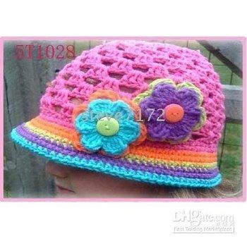 berets headwear CL826 Children hats boys' Cap knitted hat jacquard hats girls' beanie baby crochet