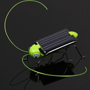 Solar Power Robot Insect Bug Locust Grasshopper Toy kid(China (Mainland))