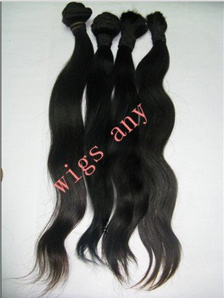"wholesale 100% Brazilian virgin hair Straight weft Natural color with length 12"" 85g/pcs 5pcs/Lot(China (Mainland))"