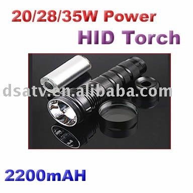 35/28W dual power 1440Lumens Rechargeable HID Flashlight(China (Mainland))