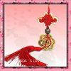 Best Selling China Knot With Copper Coin For Spring Festival Art&Collectible Souvenirs Chinese Knot Crafts 100pcs/lot